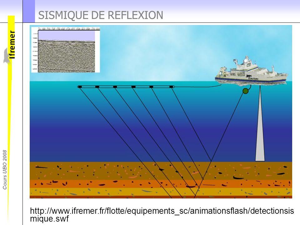 SISMIQUE DE REFLEXION La sismique de reflexion enregistre les echos des ondes reflechies par les differentes couches du sous sol.