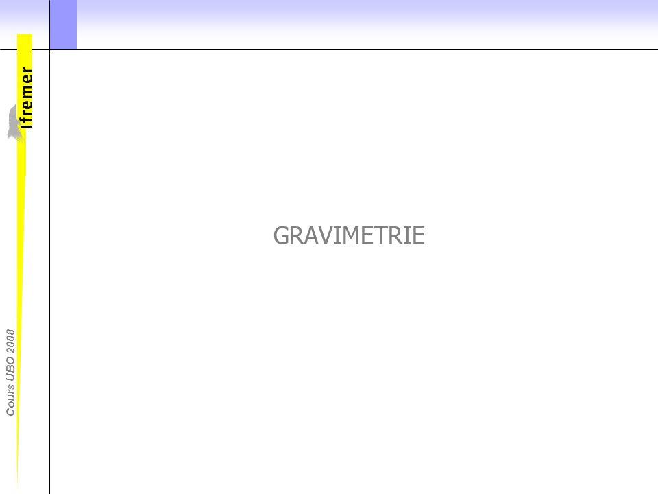 GRAVIMETRIE Donnees de gravimetrie par exemple