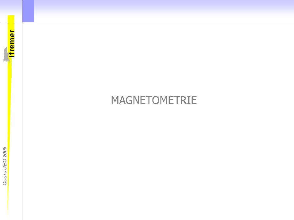 MAGNETOMETRIE En geophysique, on s'interesse agelemnt aux données de magntometrie