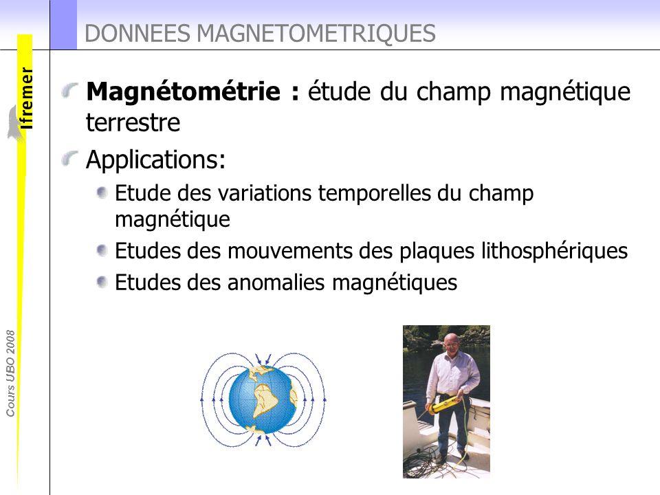 DONNEES MAGNETOMETRIQUES