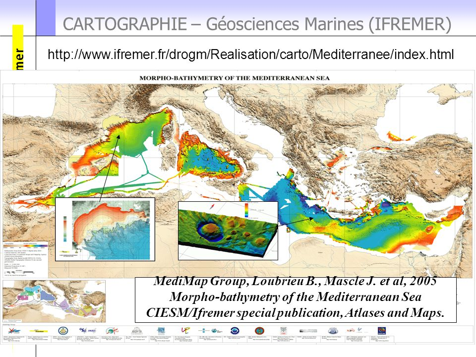 CARTOGRAPHIE – Géosciences Marines (IFREMER)