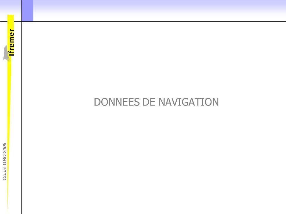 DONNEES DE NAVIGATION Commencons par les données de naviagtion