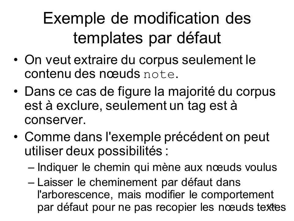 Exemple de modification des templates par défaut