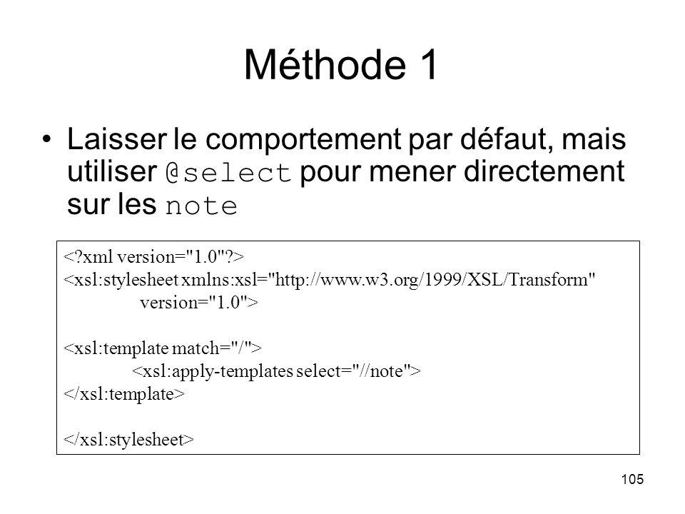 Méthode 1 Laisser le comportement par défaut, mais utiliser @select pour mener directement sur les note.