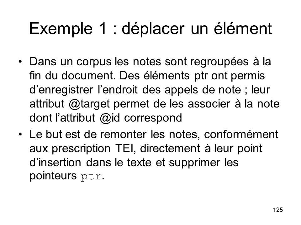 Exemple 1 : déplacer un élément
