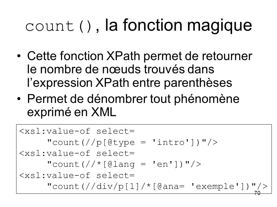 count(), la fonction magique