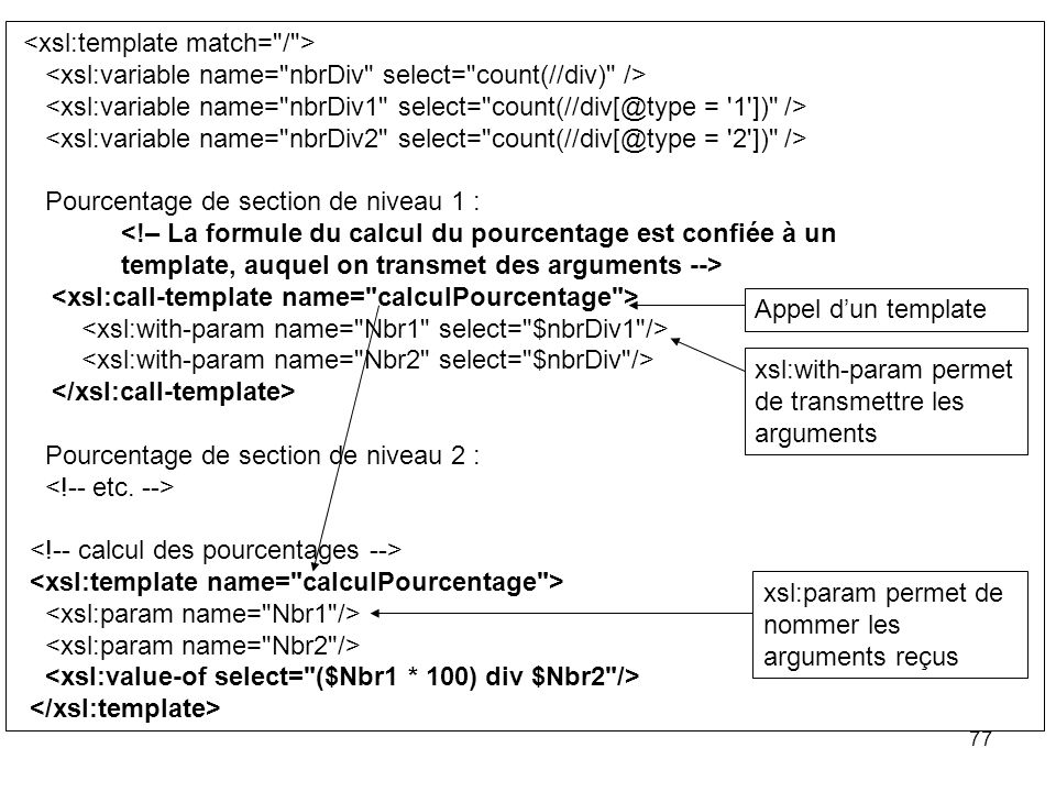 Xslt xml stylesheet language transformation ppt for Xsl named template