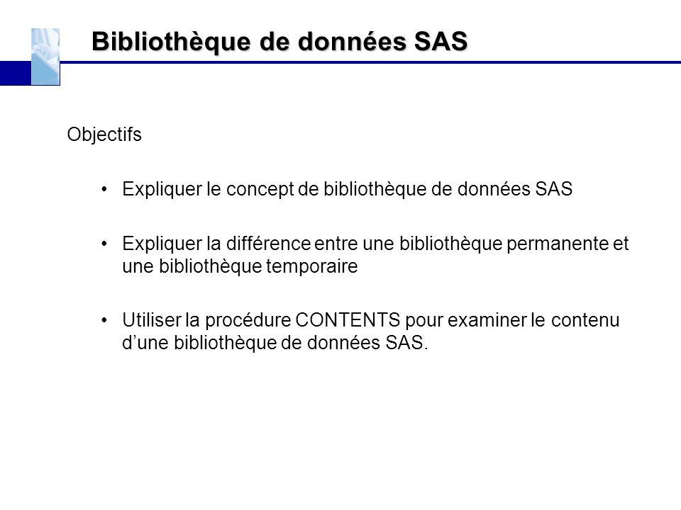 Bibliothèque de données SAS