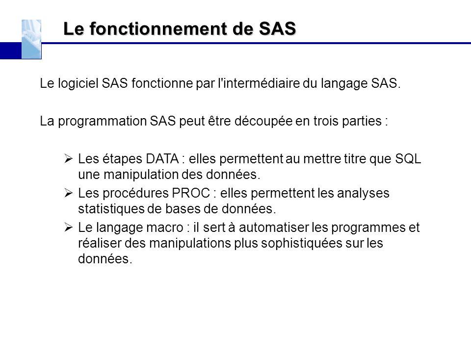 Le fonctionnement de SAS