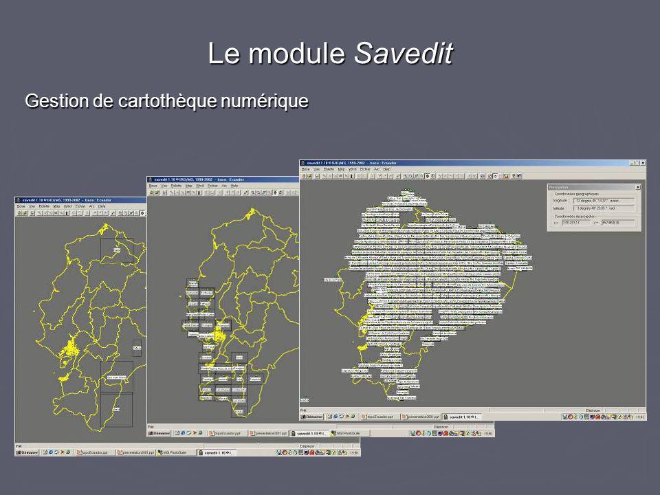 Le module Savedit Gestion de cartothèque numérique