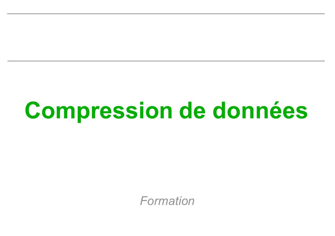 Compression de données