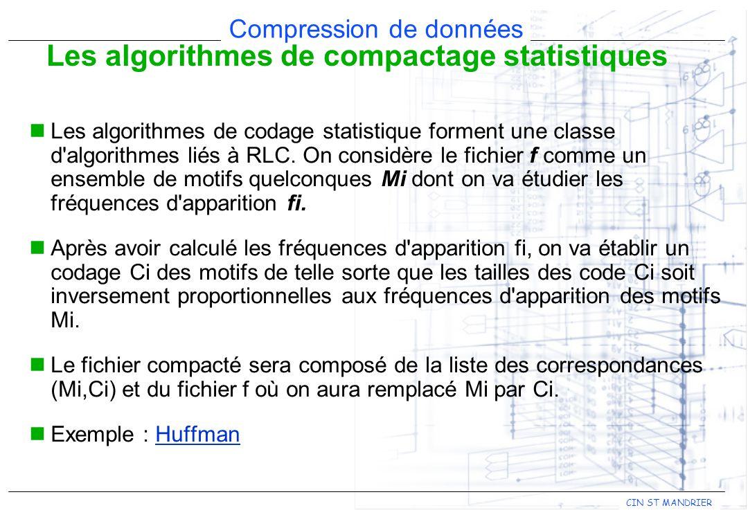 Les algorithmes de compactage statistiques