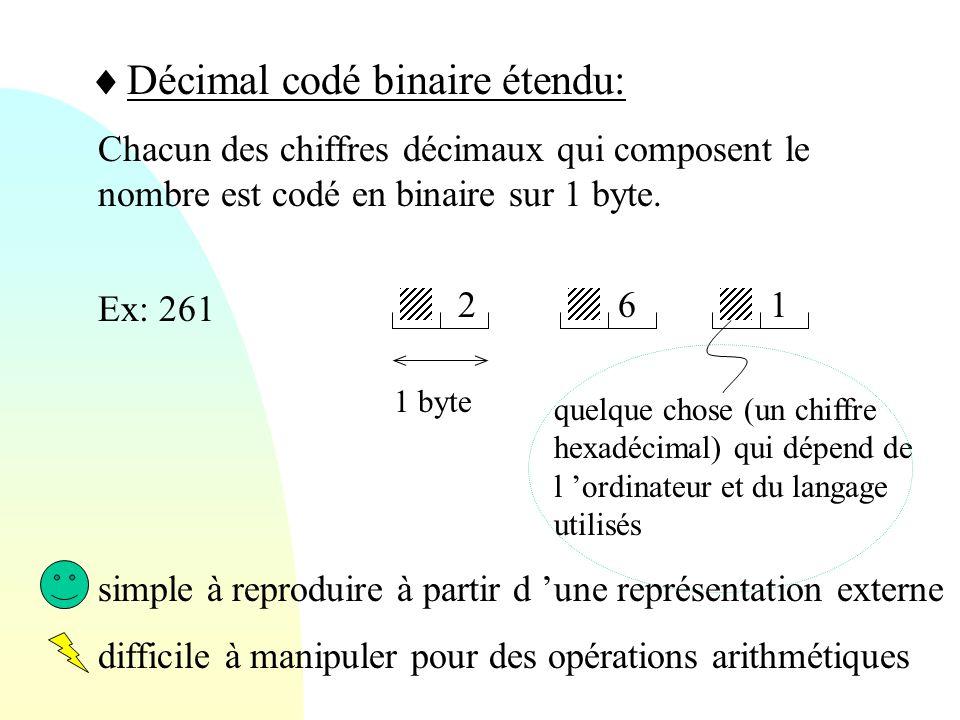 Décimal codé binaire étendu: