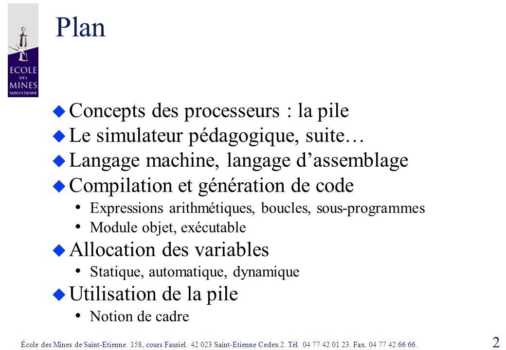 Plan Concepts des processeurs : la pile