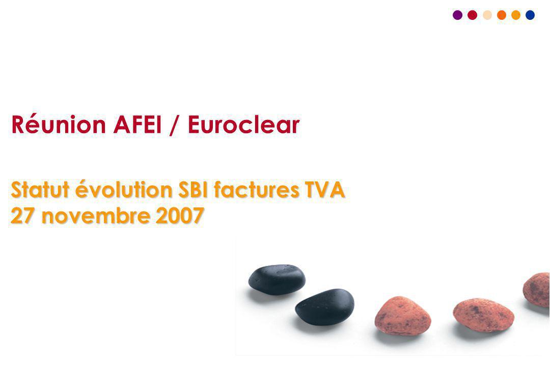 Réunion AFEI / Euroclear