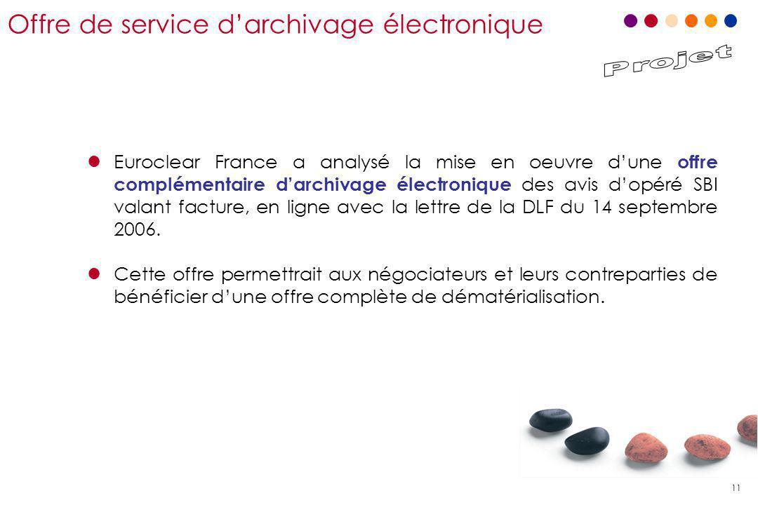 Offre de service d'archivage électronique