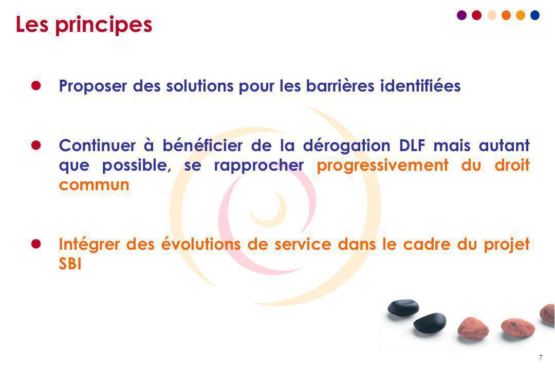 Les principes Proposer des solutions pour les barrières identifiées