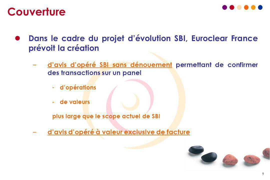 Couverture Dans le cadre du projet d'évolution SBI, Euroclear France prévoit la création.
