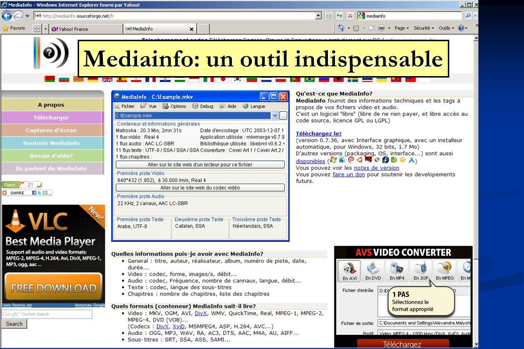 Mediainfo: un outil indispensable