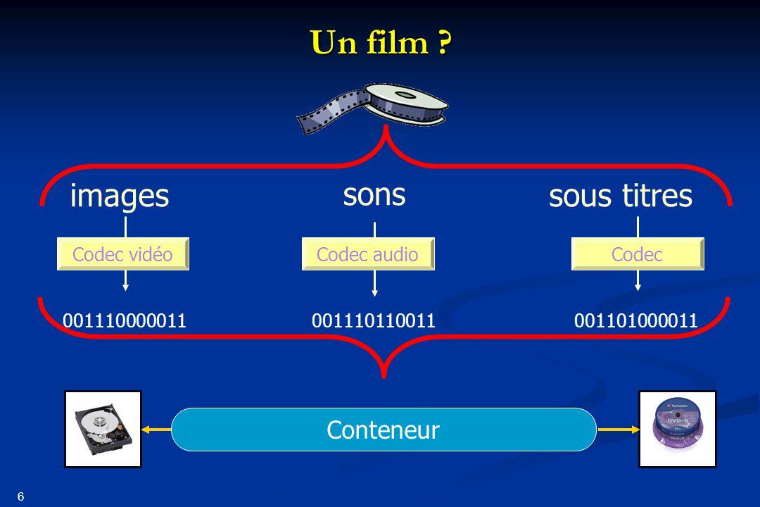 Un film images sons sous titres Conteneur 001110000011 001110110011