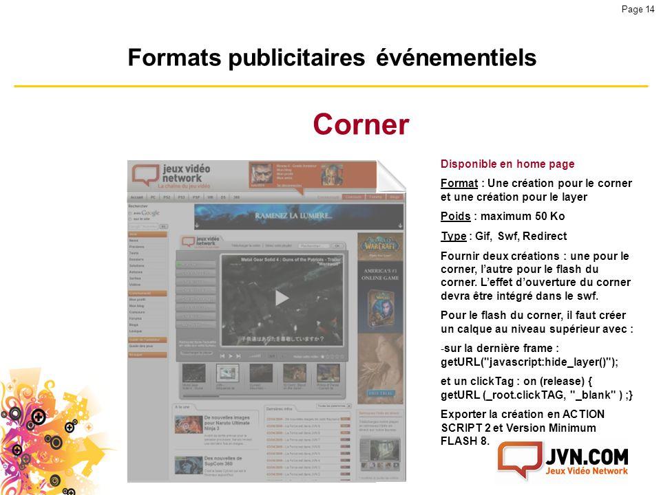 Formats publicitaires événementiels