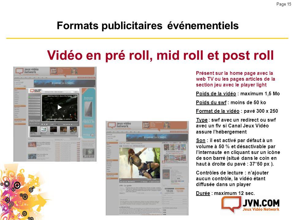 Vidéo en pré roll, mid roll et post roll