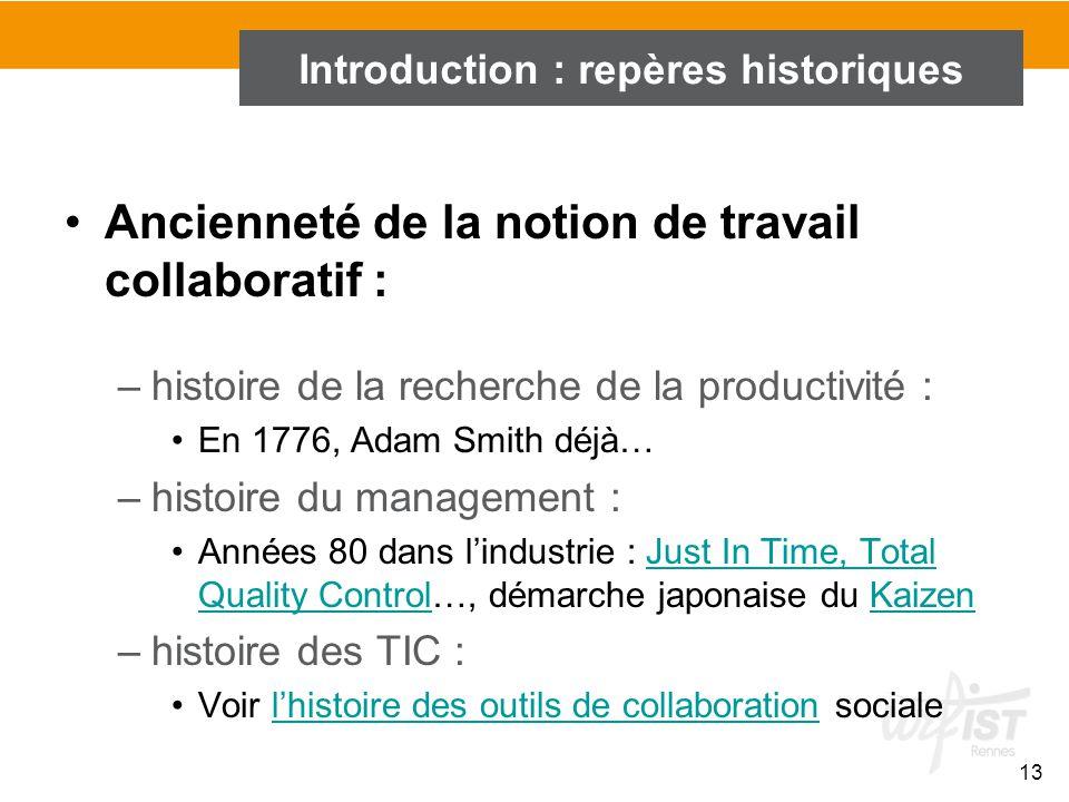 Introduction : repères historiques