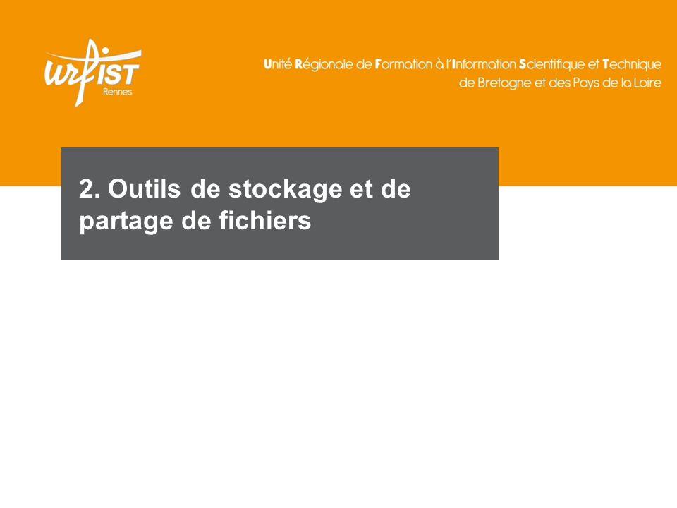 2. Outils de stockage et de partage de fichiers
