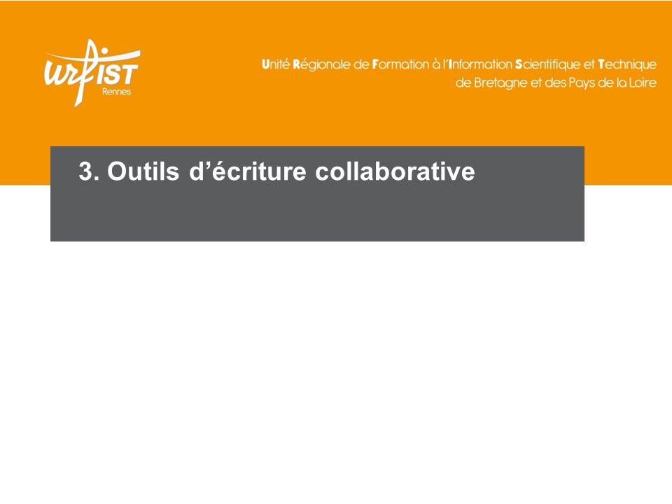 3. Outils d'écriture collaborative