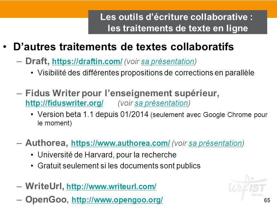 D'autres traitements de textes collaboratifs