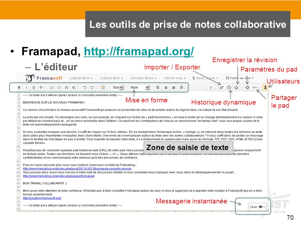 Les outils de prise de notes collaborative