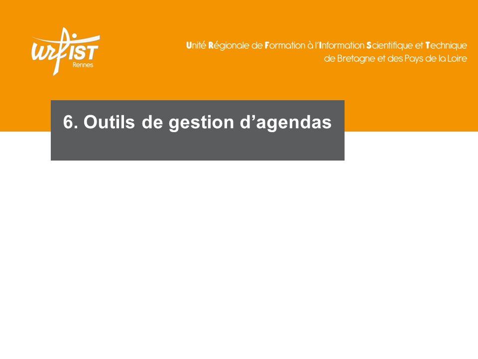 6. Outils de gestion d'agendas