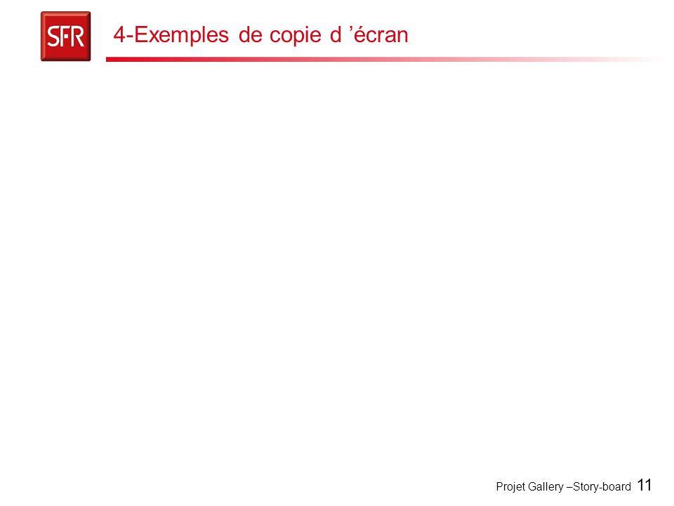 4-Exemples de copie d 'écran