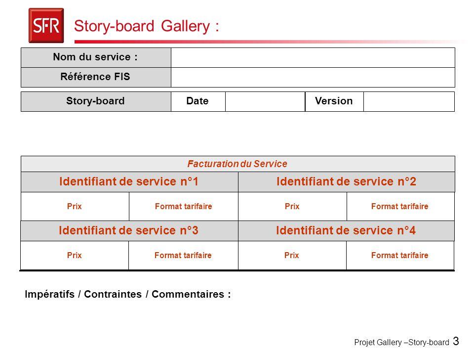 Story-board Gallery : Identifiant de service n°1
