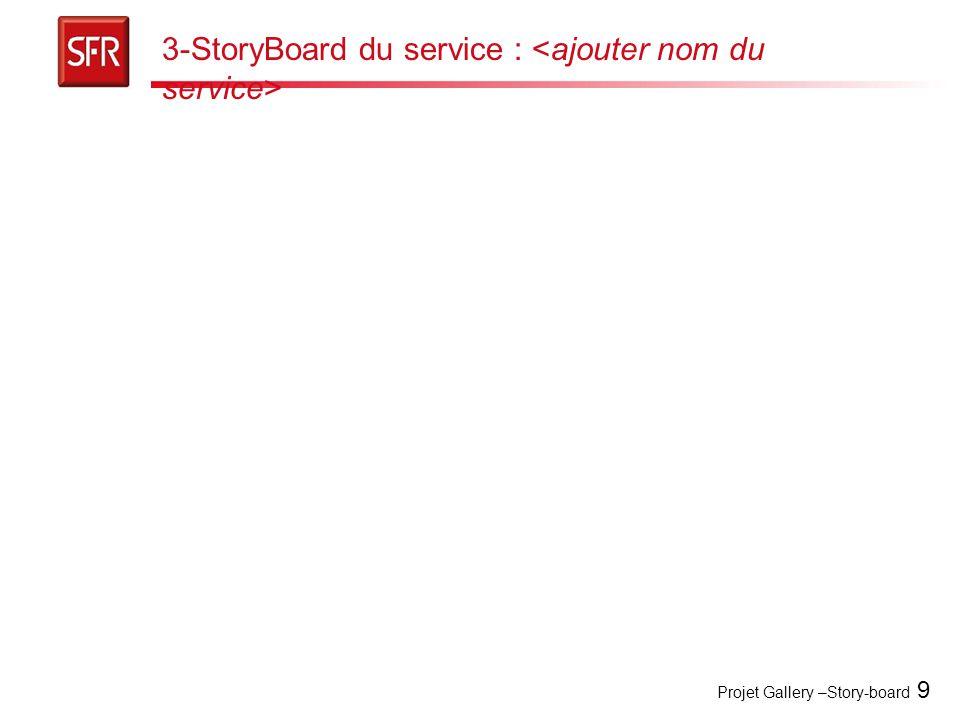3-StoryBoard du service : <ajouter nom du service>