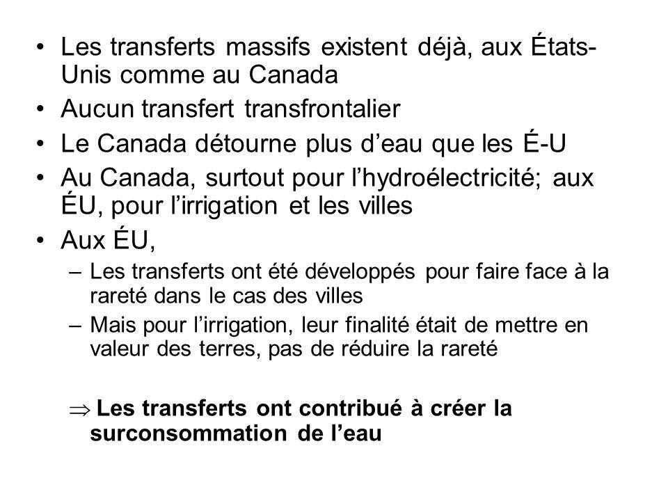 Les transferts massifs existent déjà, aux États-Unis comme au Canada