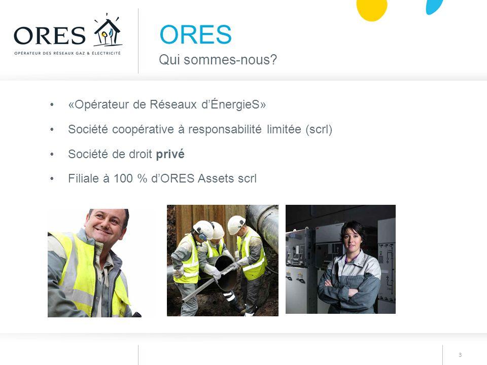 ORES Qui sommes-nous «Opérateur de Réseaux d'ÉnergieS»