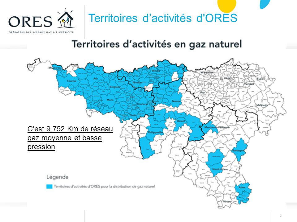 Territoires d'activités d ORES
