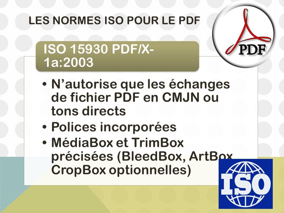 Les Normes ISO pour le PDF