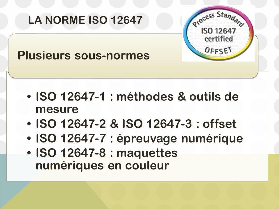 ISO 12647-1 : méthodes & outils de mesure