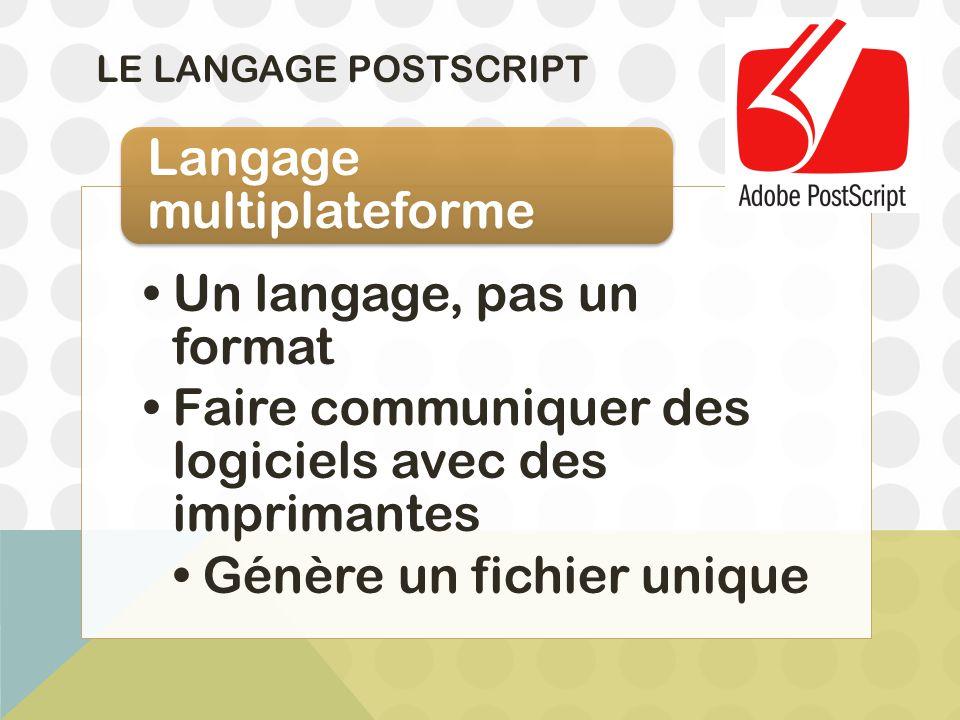 Un langage, pas un format