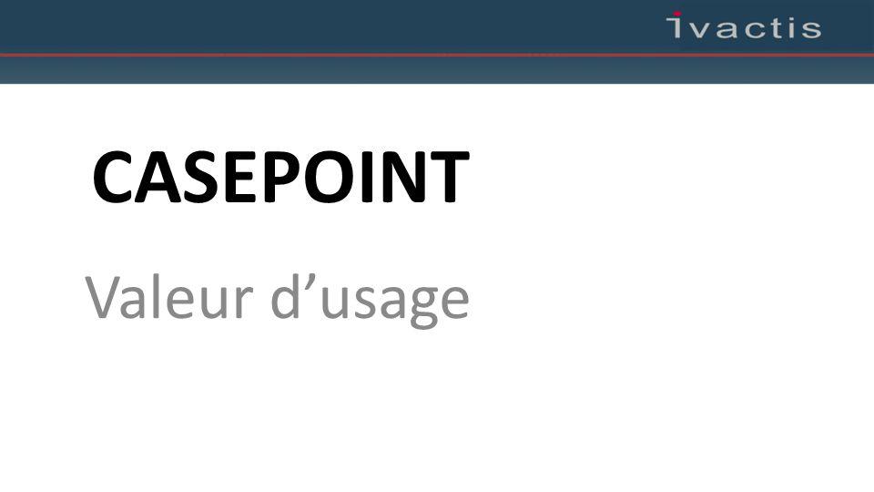 CASEPOINT Valeur d'usage