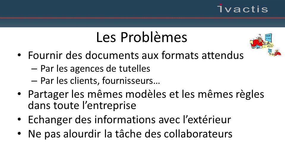 Les Problèmes Fournir des documents aux formats attendus