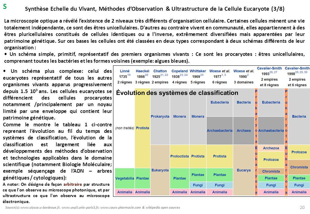 S Synthèse Echelle du Vivant, Méthodes d'Observation & Ultrastructure de la Cellule Eucaryote (3/8)
