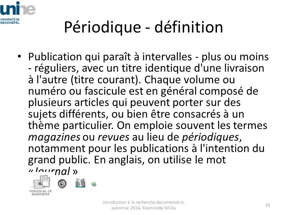 Périodique - définition