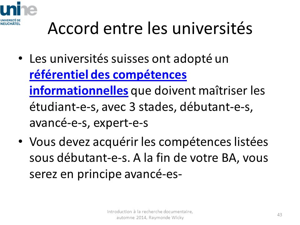 Accord entre les universités