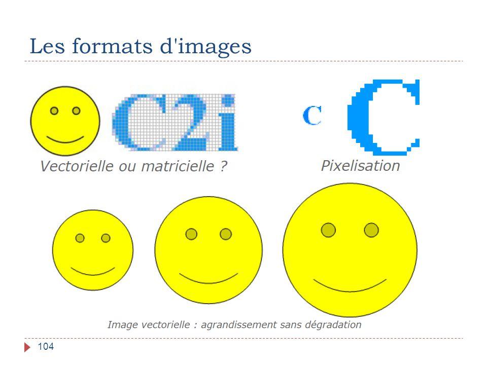 Les formats d images