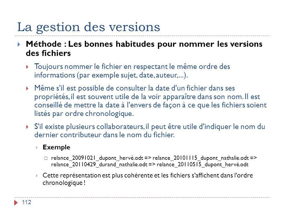 La gestion des versions