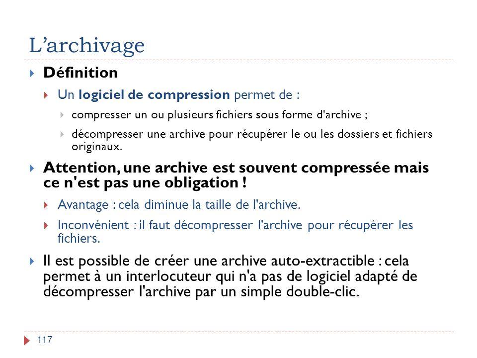 L'archivage Définition