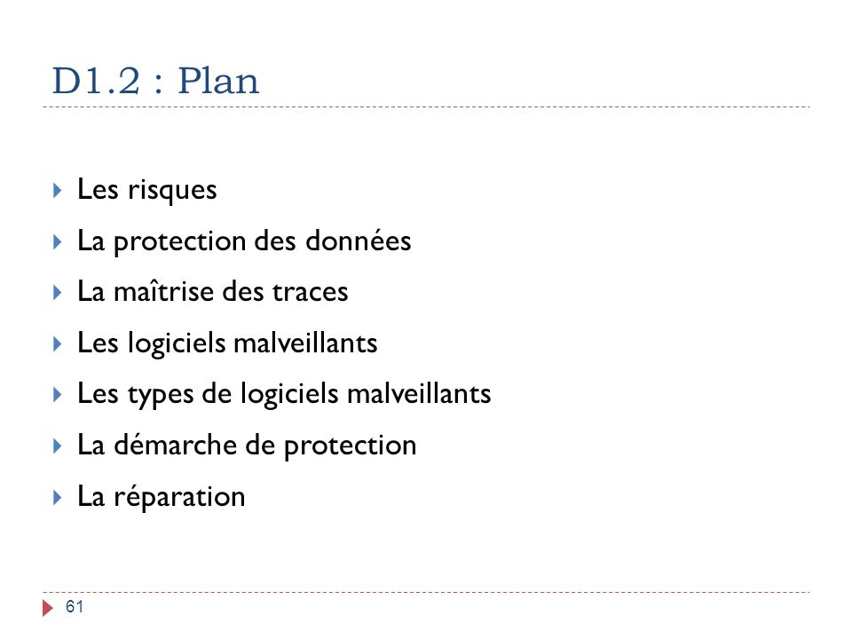 D1.2 : Plan Les risques La protection des données
